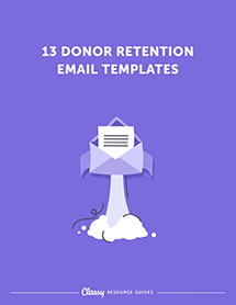 Donor retention fundraising email templates