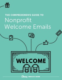 Guide to welcome fundraising emails