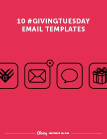 Guide of Giving Tuesday fundraising email templates
