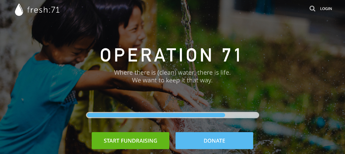 Operation 71 fundraising tracking page