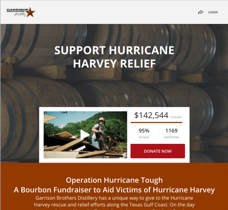 Team Rubicon Hurricane Harvey relief donation page