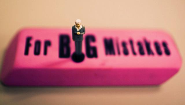 big pink eraser for big mistakes