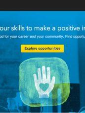 LinkedIn for Volunteers homepage