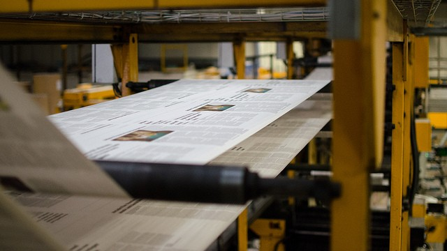 newspaper press printing newspapers