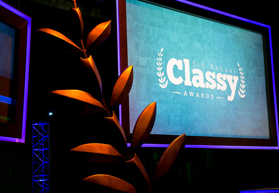 Classy awards stage