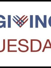red and blue Giving Tuesday logo