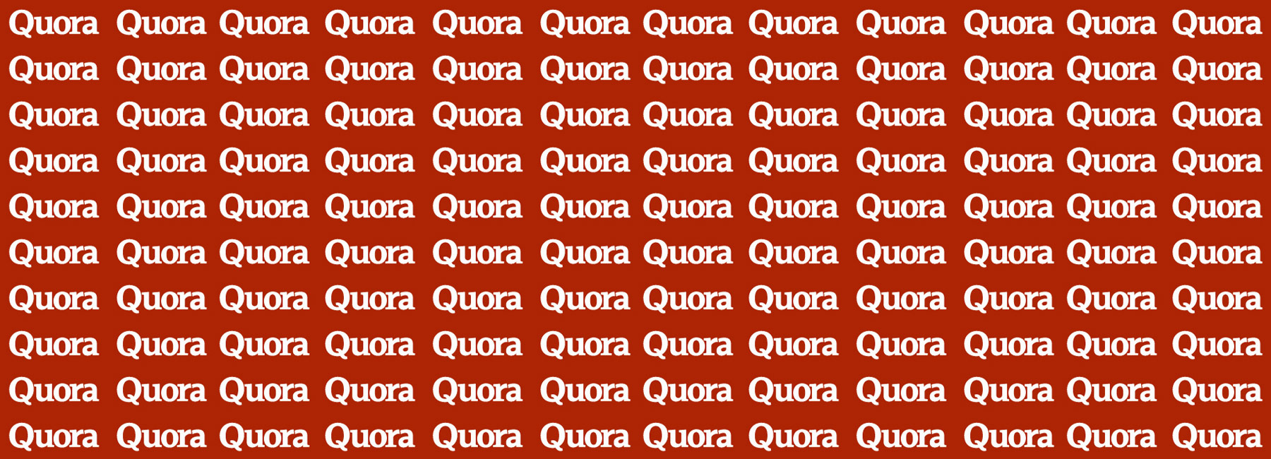 Quora logo written repetitively with a red background
