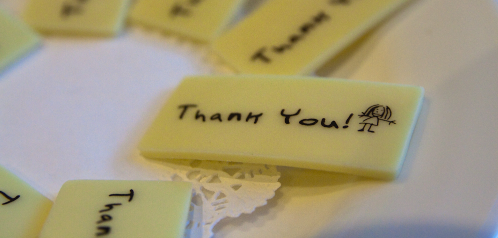 thank you messages on yellow tablets