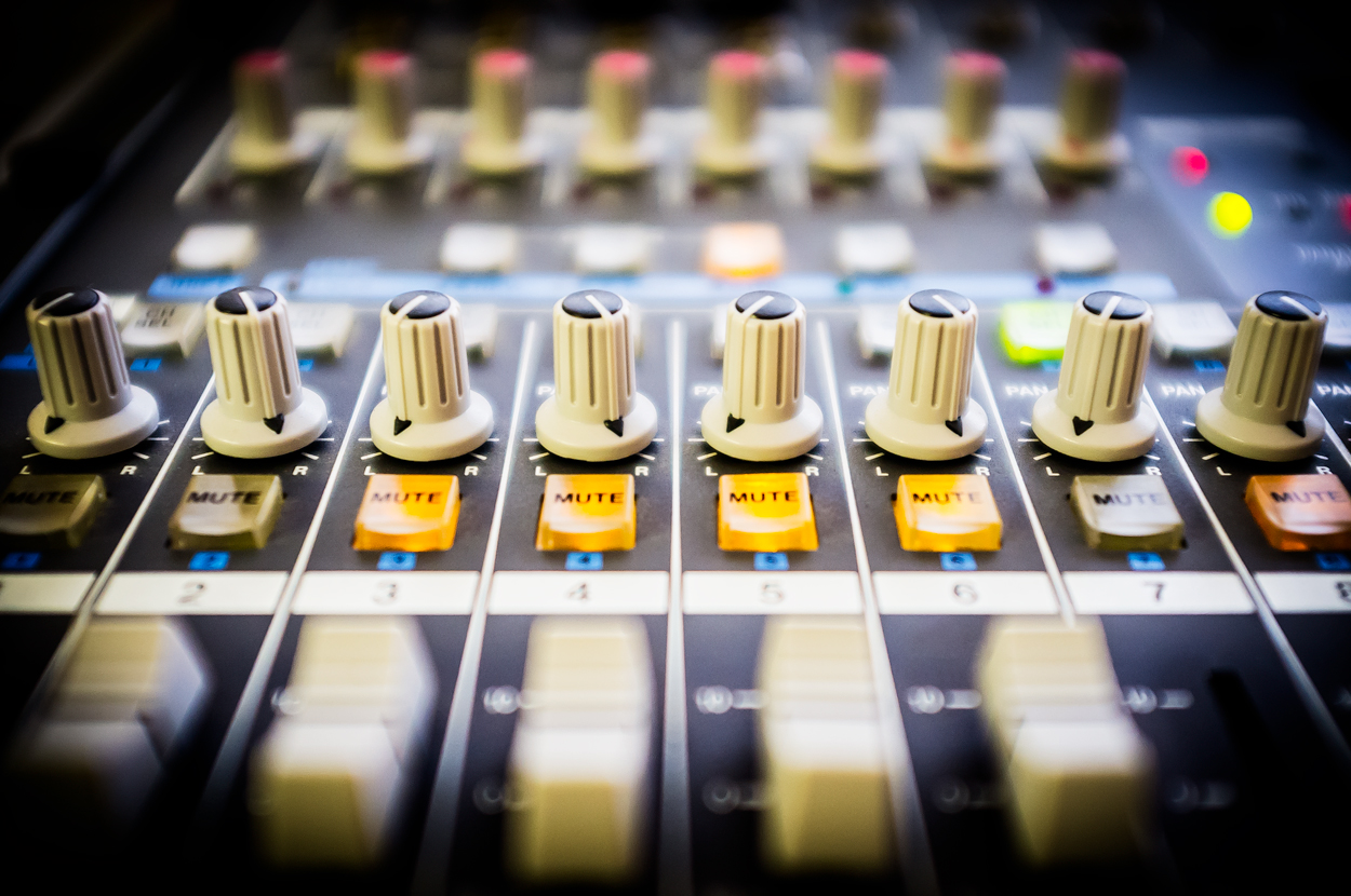 recording equipments with knobs