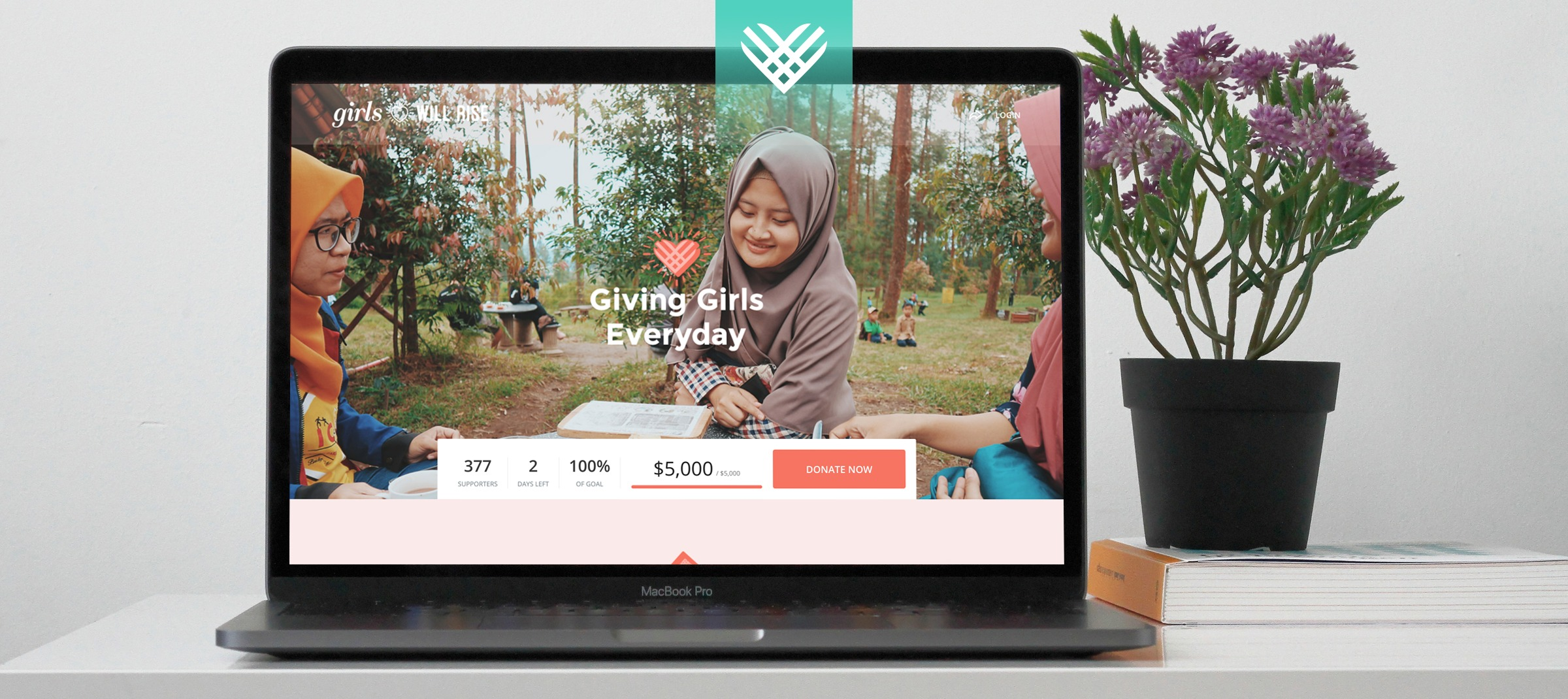 Giving Tuesday campaign screen
