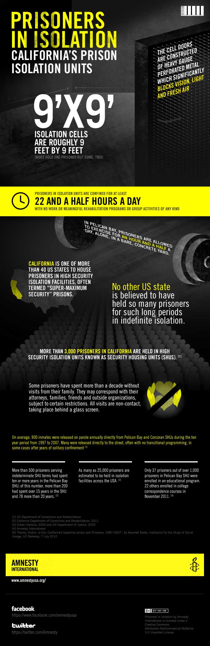 Amnesty International Infographic: Prisoners in isolation