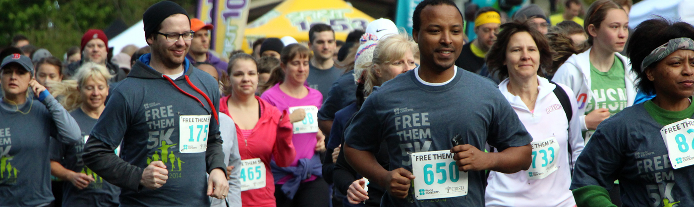 Free Them 5K participants running in a fundraising event