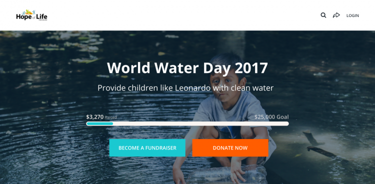 Hope of Life World Water Day 2017