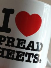 an I heart spreadsheets mug