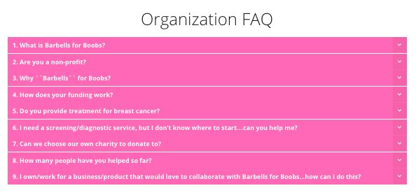 Barbells for Boobs FAQ Customer Service