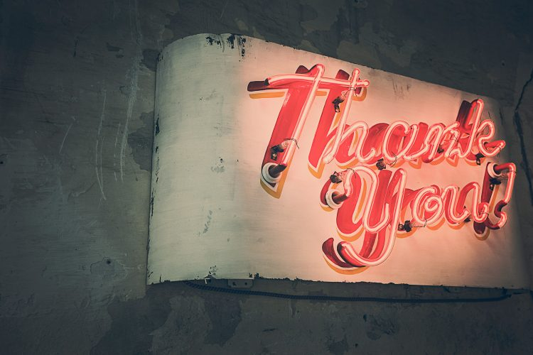 how to thank donors