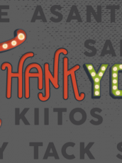 text that says thank you in different fonts and languages