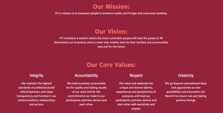 Nonprofit Mission Statement Example