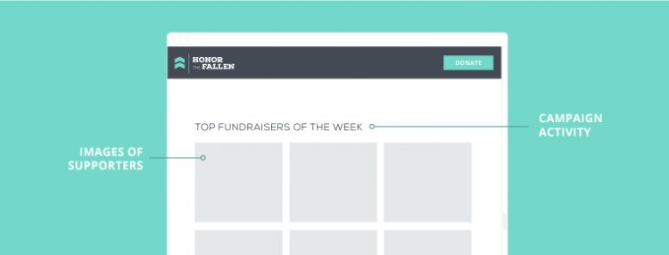 donor friendly homepage