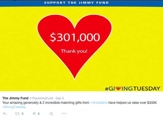 Jimmy Fund Giving Tuesday Sponsorship