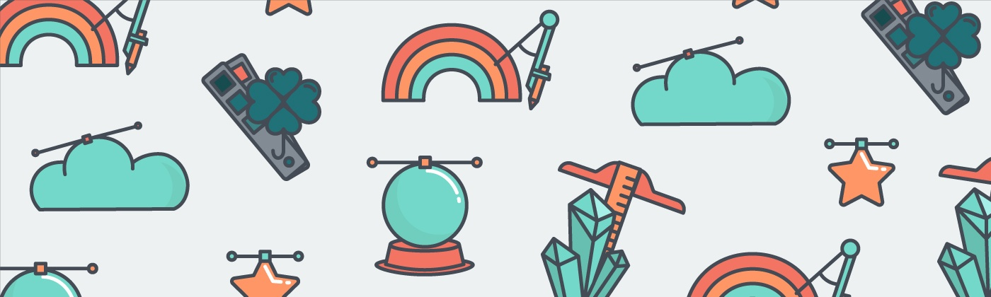 graphic of a rainbow and a globe