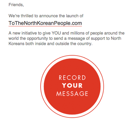 Liberty in North Korea opportunity in fundraising appeal