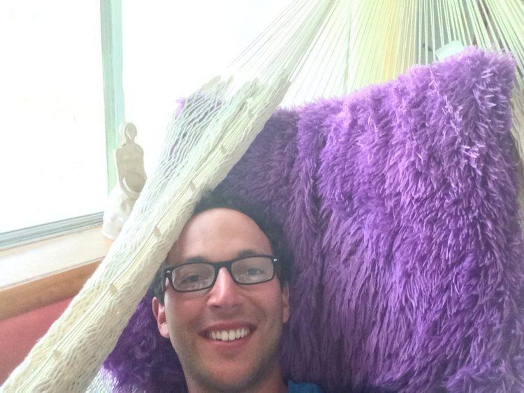 Scott taking shelter for the night