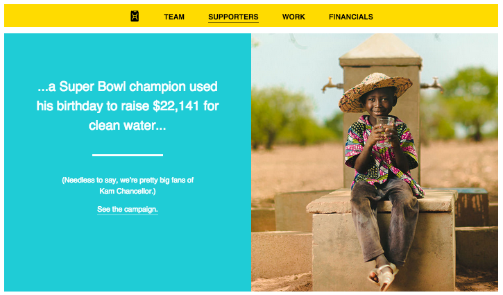 charity:water nonprofit annual report