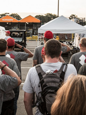 Team Rubicon flag salute.