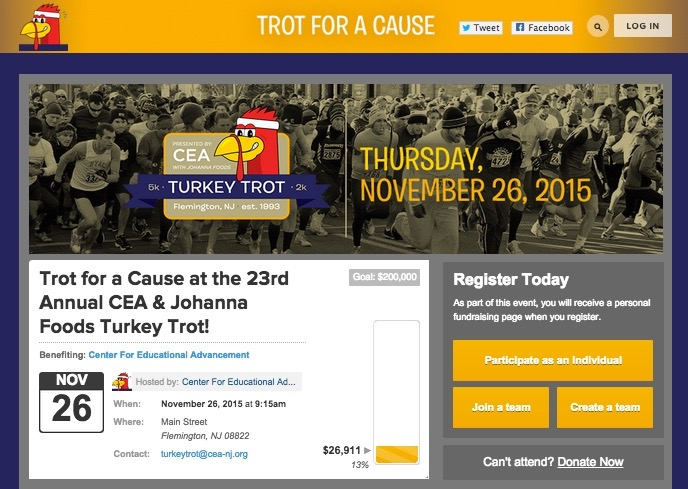 Trot for a Cause at the 23rd annual CEA and Johanna Foods Turkey Trot