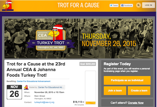 23rd Annual CEA and Johanna Foods Turkey Trot