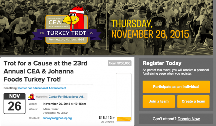 23rd annual CEA & Johanna Foods Turkey Trot