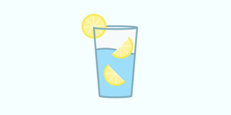 stress-busting tip: lemon water