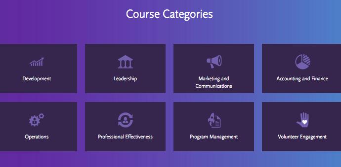 Nonprofit Ready online course catalog