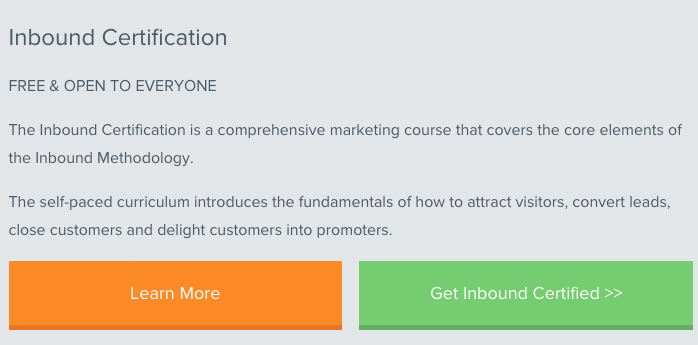 HubSpot online course on inbound marketing