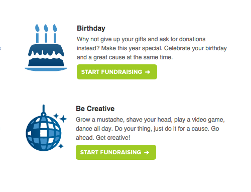 List of creative fundraising ideas for peer-to-peer fundraisers