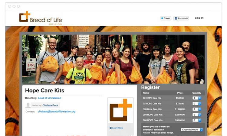 Bread of Life Online Fundraising Page