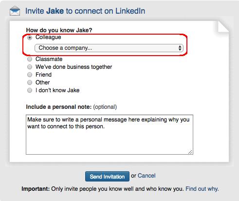LI invitation example