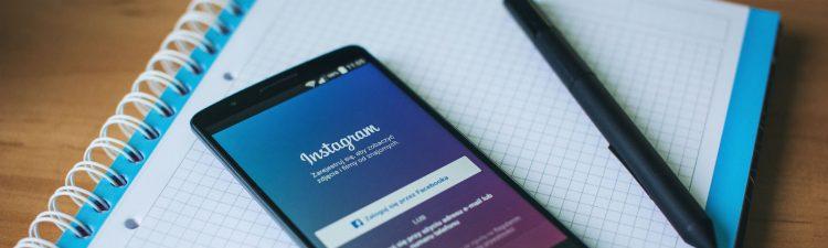 Image of social media app instagram on mobile device.