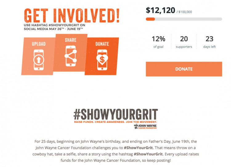 ShowyourGrit Campaign