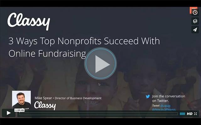 Top Nonprofits Online Fundraising webinar