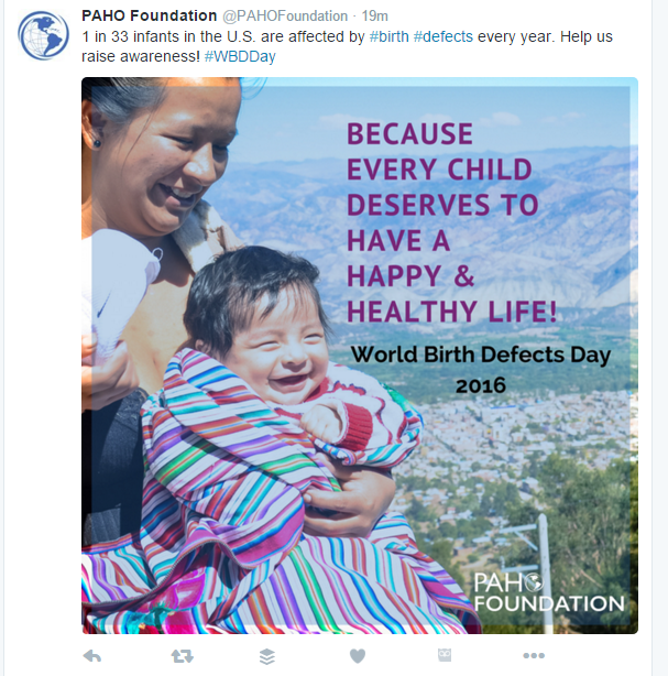 PAHO Foundation Twitter