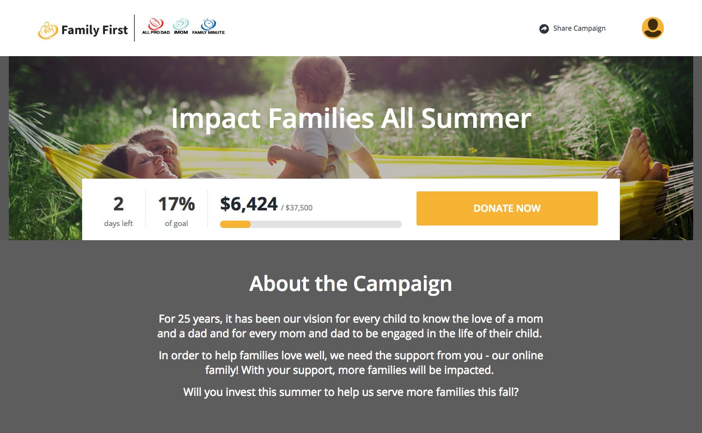 family-first-cf-campaign