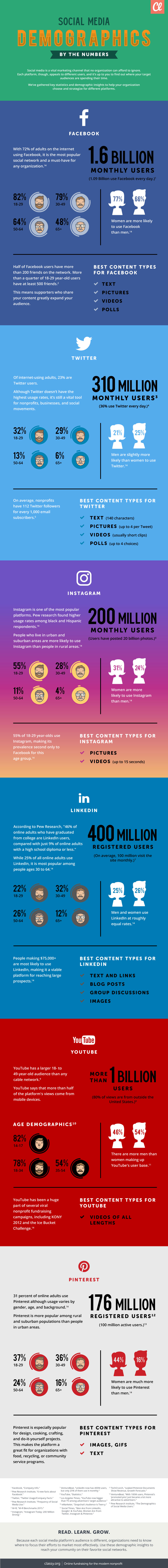 infographic social media demographics