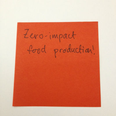 zero impact food post-it note