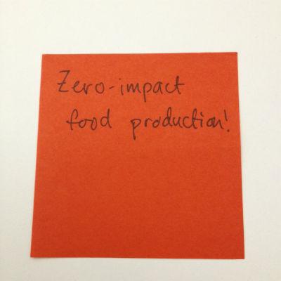 zero impact food post-it note