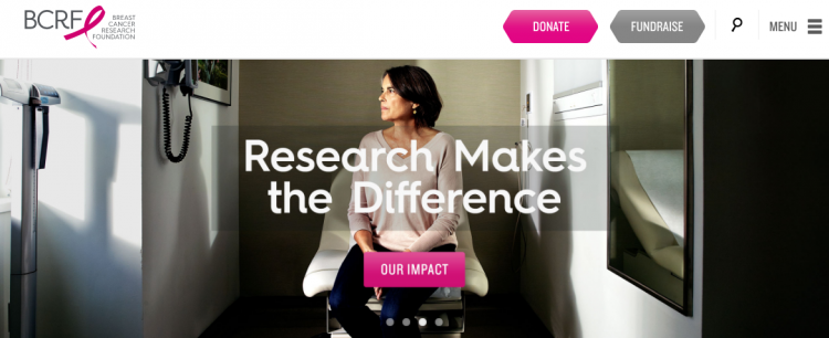 BCRF nonprofit website