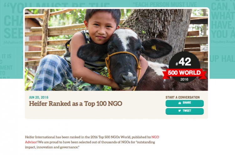 Heifer International website