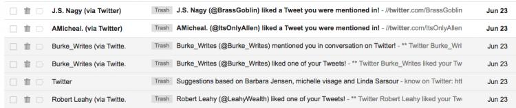 social media twitter emails