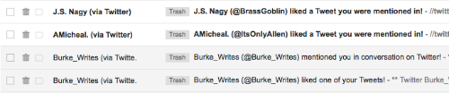 twitter email messages